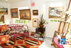 photo of art studio from ARF Designer Showhouse