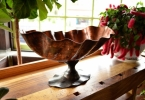 Copper and steel bowl